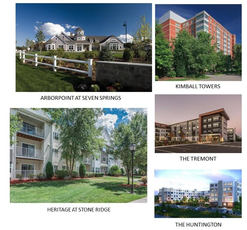 Arborpoint at Seven Springs, Kimball Towers, Heritage at Stone Ridge, The Tremont, The Huntington