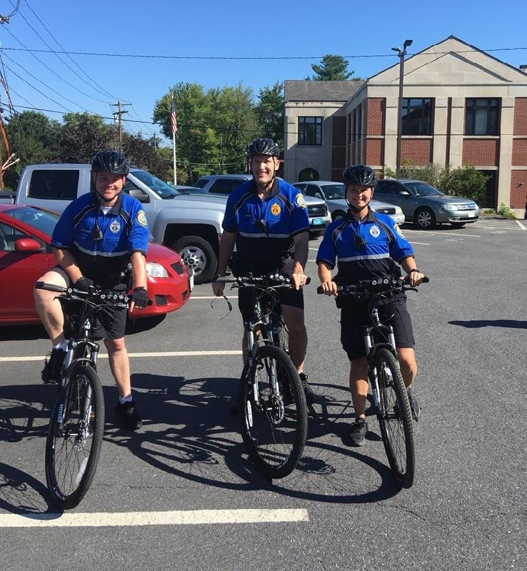 Bike officers heading out to the Town Common for Annual Truck Day event, September 16, 2018